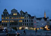 Bruxelles at night — Stock Photo