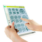 Futuristic glass tablet — Stock Photo