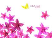 Origami flowers — Stock Photo