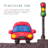 Plasticine car light — Stock Photo