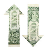 Dollar arrows  — Stock Photo
