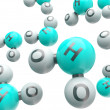 Stock Photo: H20 isolated molecules