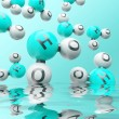 H20 molecules — Stock Photo