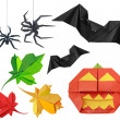 Halloween set — Stock Photo