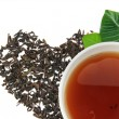 A cup of tea with tea — Stock Photo