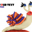 Stock Photo: Plasticine wonder snail