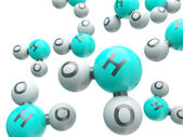 H20 isolated molecules  — Foto Stock