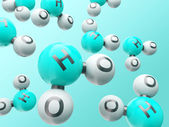 H20 molecules — Foto Stock
