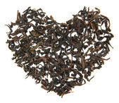 Tea brew heart — Stock Photo
