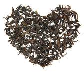 Tea brew heart — Stock Photo