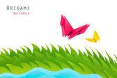 Kağıt origami alan — Stok fotoğraf