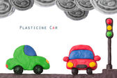 Plasticine car light — Stockfoto