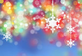Winter snowflakes background — Stock Photo
