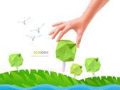 Green tree ecology — Stock Photo