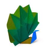 Paper peacock — Stock Photo
