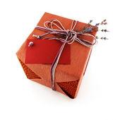 Presente flor de lavander whith caixa — Fotografia Stock
