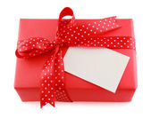 Red present box  — Stock Photo