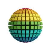 3d rainbow sphere — Stock Photo