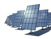 3d  solar cells — Stock Photo
