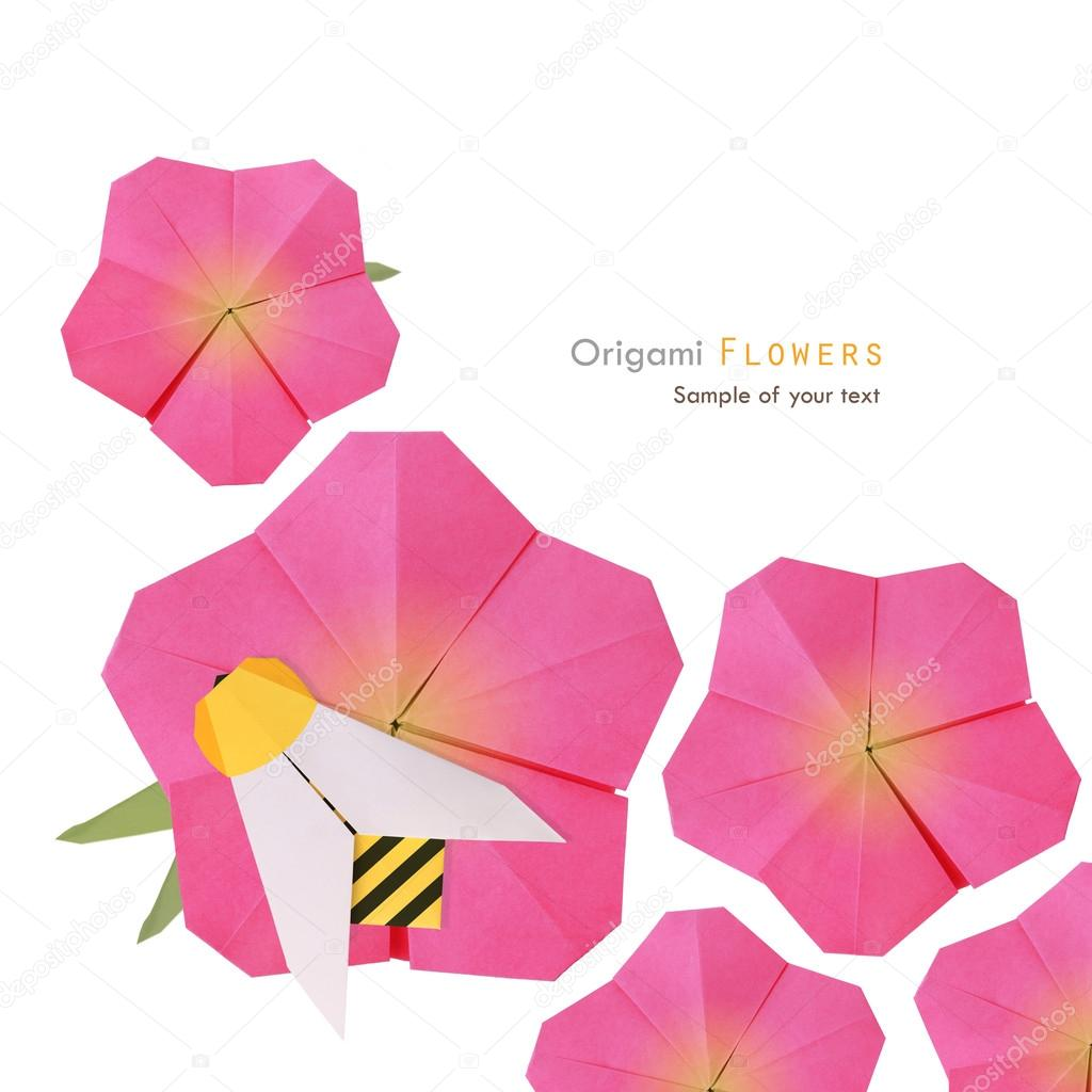 fleur origami rose photographie mandrixta 41280383. Black Bedroom Furniture Sets. Home Design Ideas