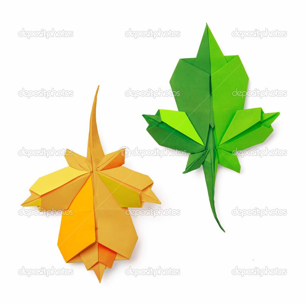 折纸的叶子 — 图库照片08mandrixta#41280625