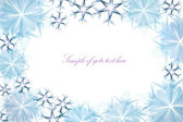 Transparent snowflake frame — Stock Photo