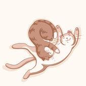 Katten in liefde — Stockvector