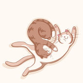 Kočky v lásce — Stock vektor