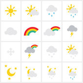 Wheather icons — Stock Vector