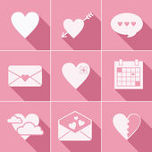 Mail love icons — Stock Vector