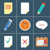 Organizer  icon set — Stock Vector