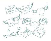 Carta de amor — Vector de stock