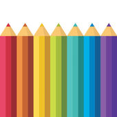 Lots of colored pencils. — Stock Vector
