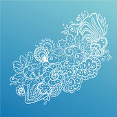 Vector flower background. — Stockvektor
