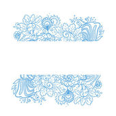 Vector flower background. — Vector de stock
