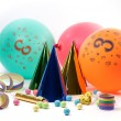 Party accessories for birthday party, 3 years — Stock Photo #41561193
