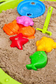 Plastic toys for playing in sandbox — Foto de Stock