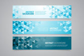 Abstracte geometrische banners — Stockvector
