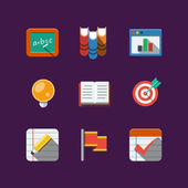 School icons. Flat — Stock Vector