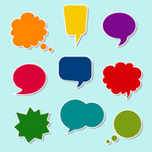 Set of colorful speech bubbles — ストックベクタ