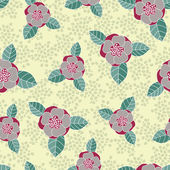 Seamless vector rose pattern — Stock Vector