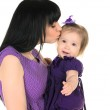 Mother hugging her little daughter — Stock Photo #42801561