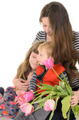 Family: mother, daughter and son — Stock Photo