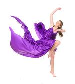 Girl dancer in flying dress — Photo
