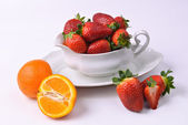 Strawberry bowl — Stock Photo