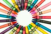 Kleurpotloden in een cirkel — Stockfoto