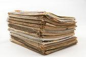 Stapel van oude tijdschriften — Stockfoto