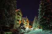 Hotel near ski center — Stock Photo