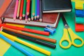 Artículos de papelería escolar — Foto de Stock
