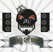 King of rock — Stock Vector
